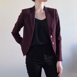 H&M | Burgundy Textured Blazer